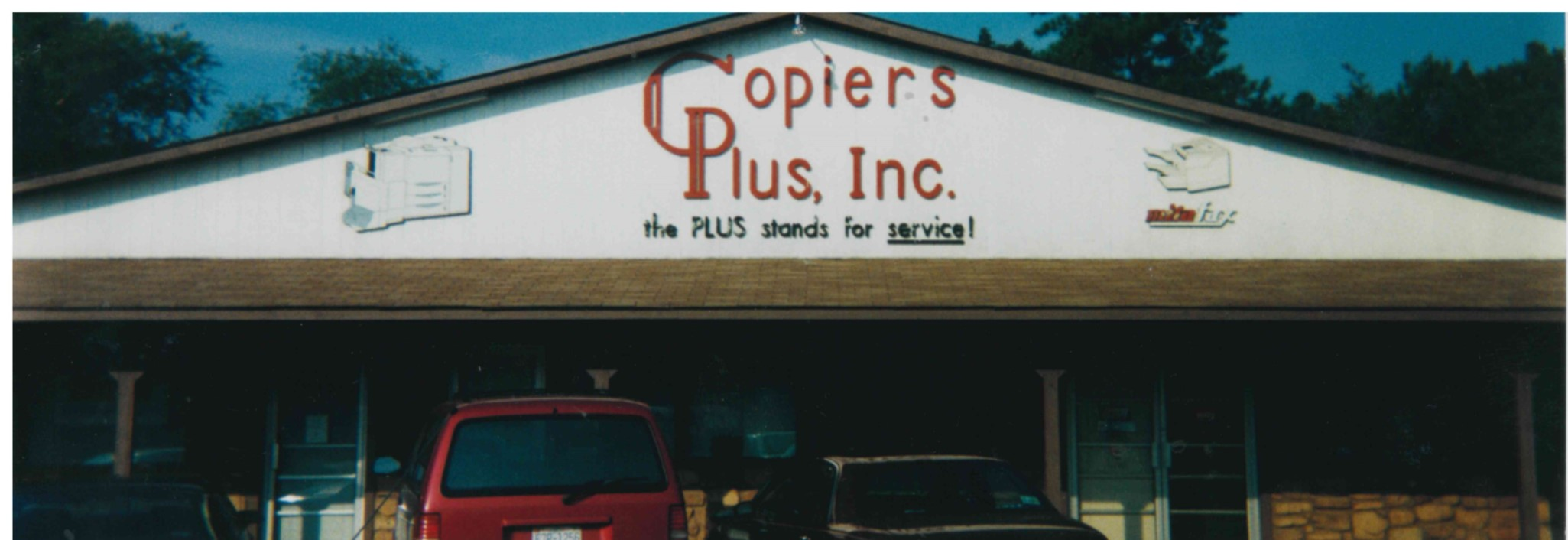 Photograph of the original Copiers Plus. Fayetteville, North Carolina